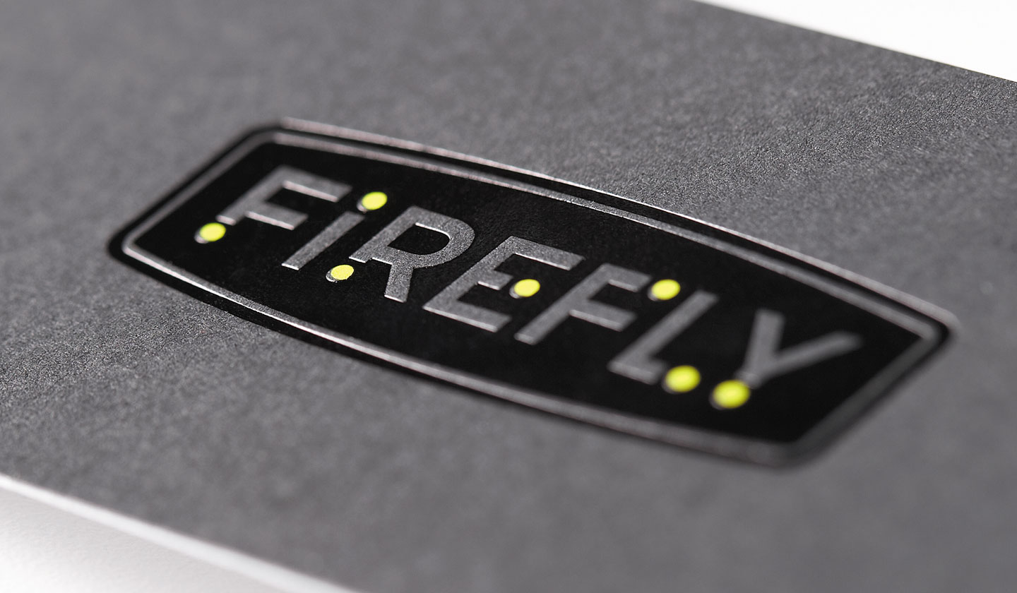 Firefly Business Card Close-up