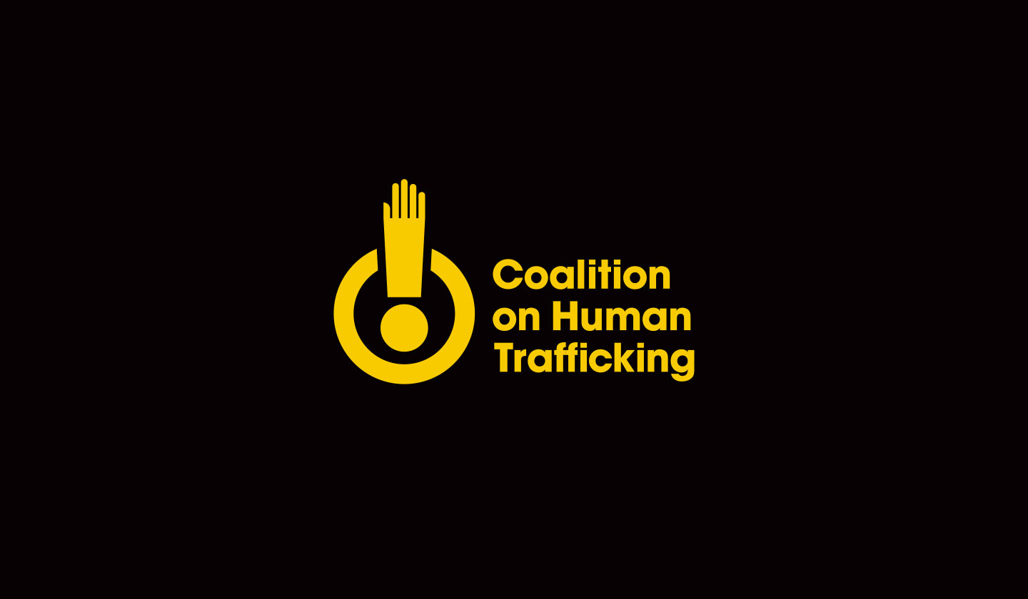 Coalition on Human Trafficking on black