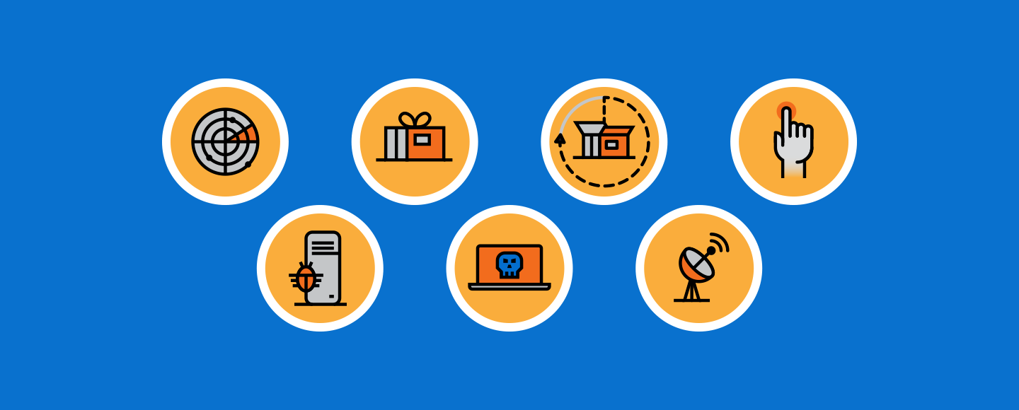 NTT Group Security Kill Chain Icons