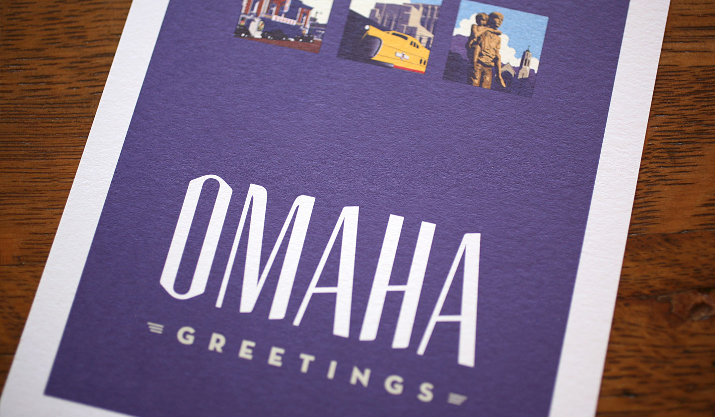 Webster Omaha Greetings Cover Card