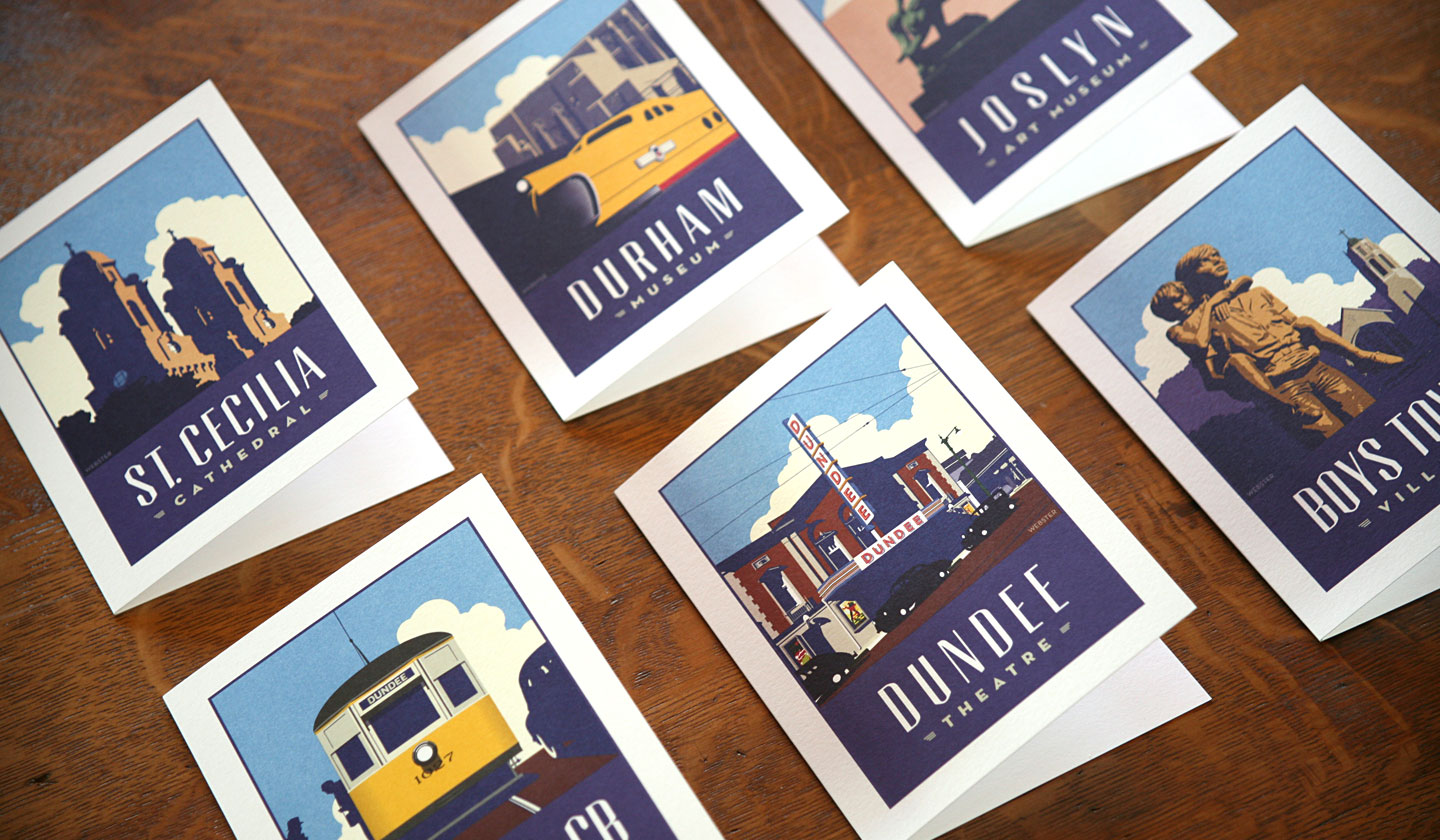 Webster Omaha Greetings Card Set