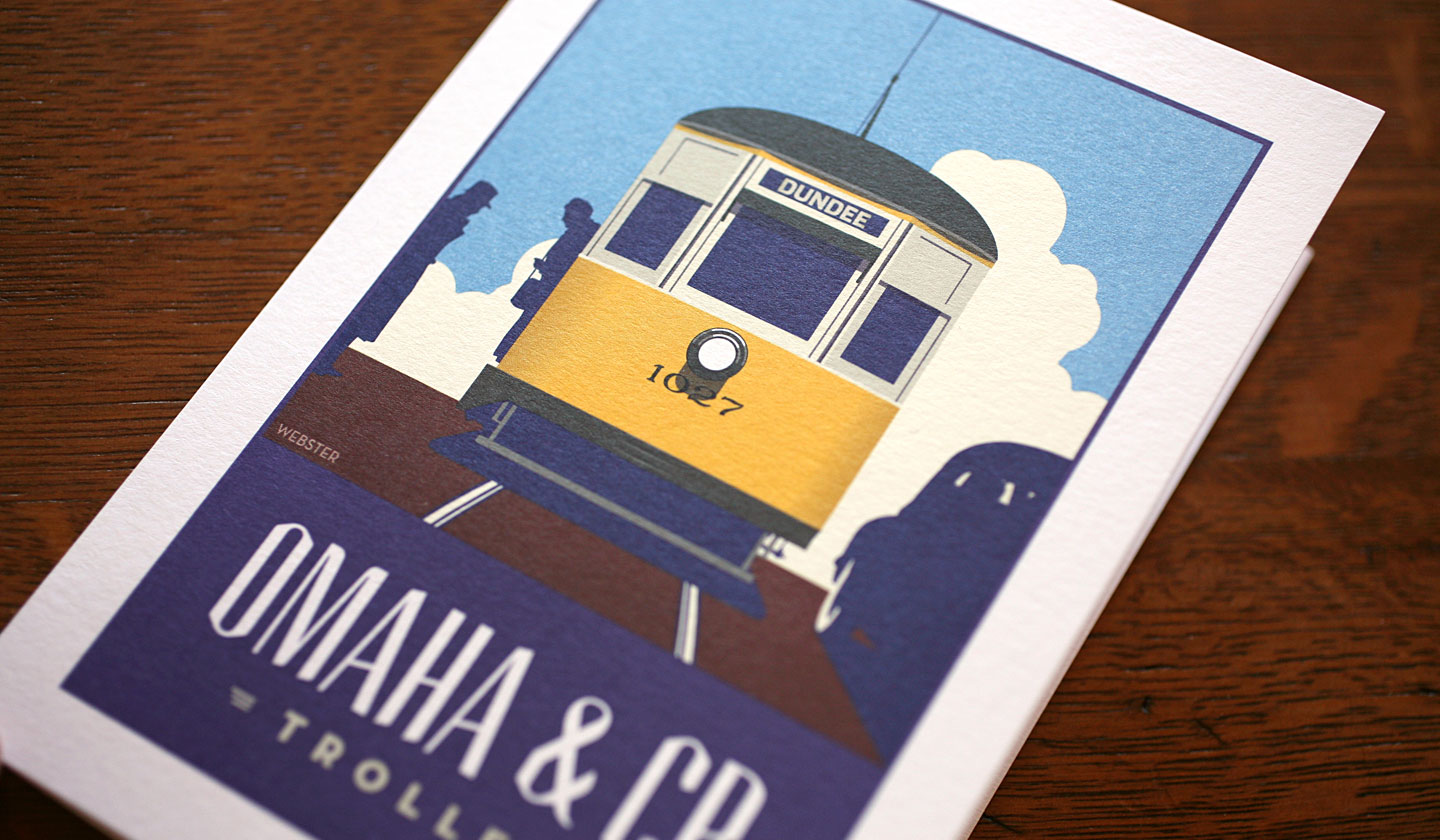 Webster Omaha Greetings Card Set - Trolley