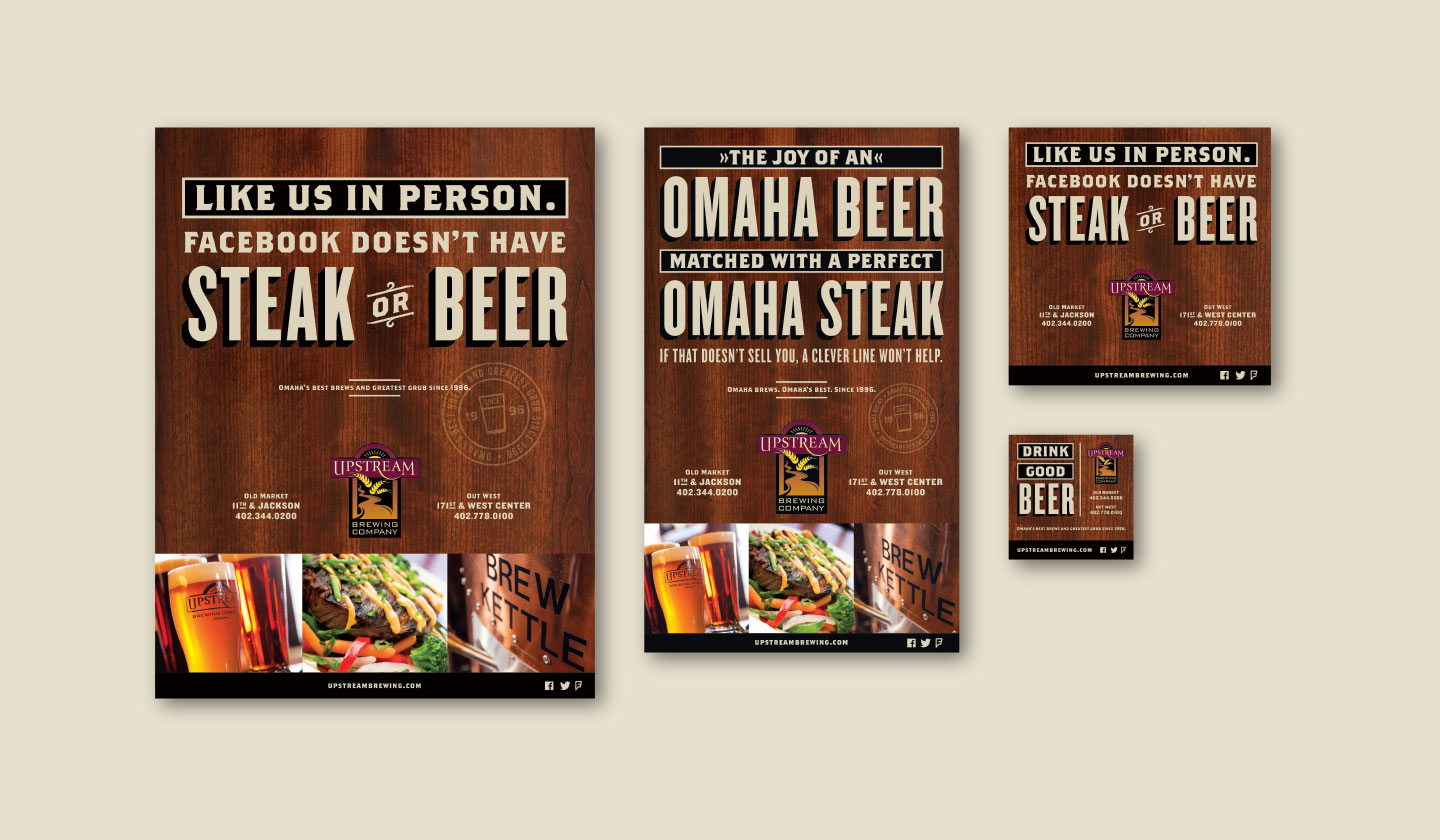 Upstream Brewing Company Advertisements