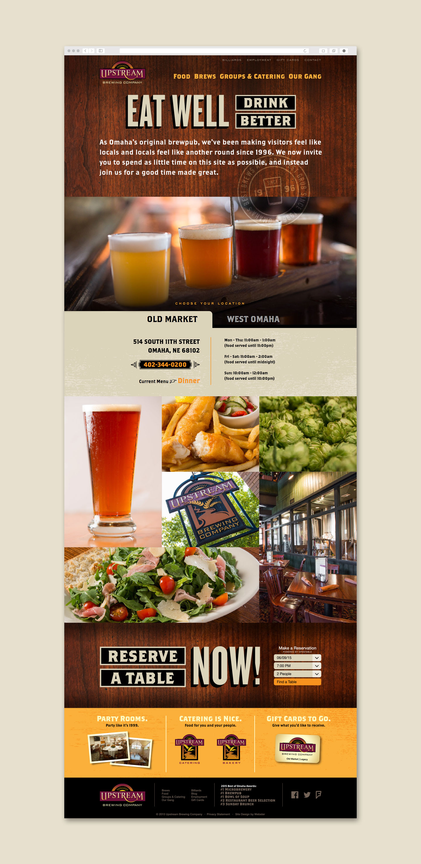 Upstream Brewing Homepage