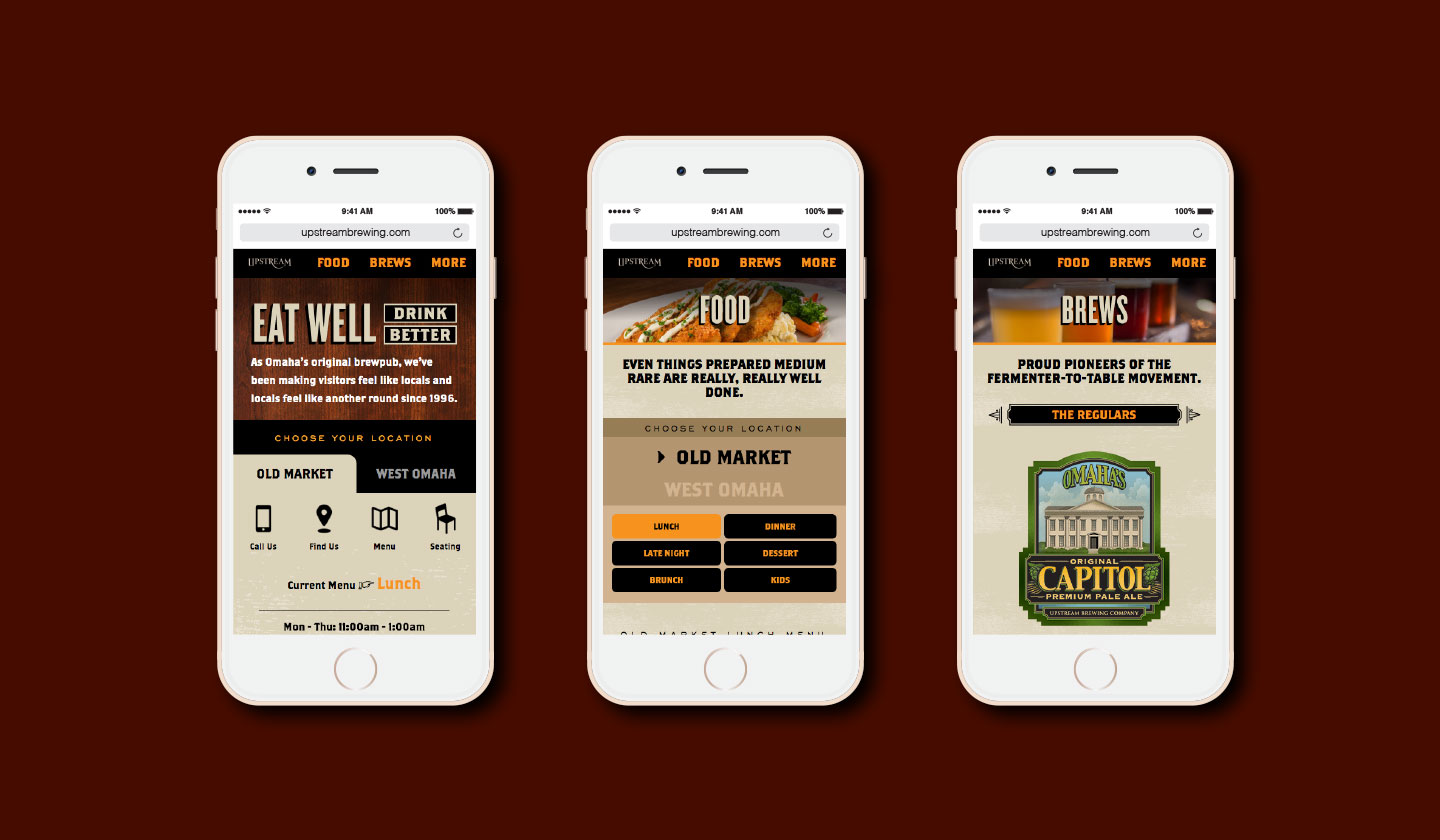 Upstream Brewing Mobile Website