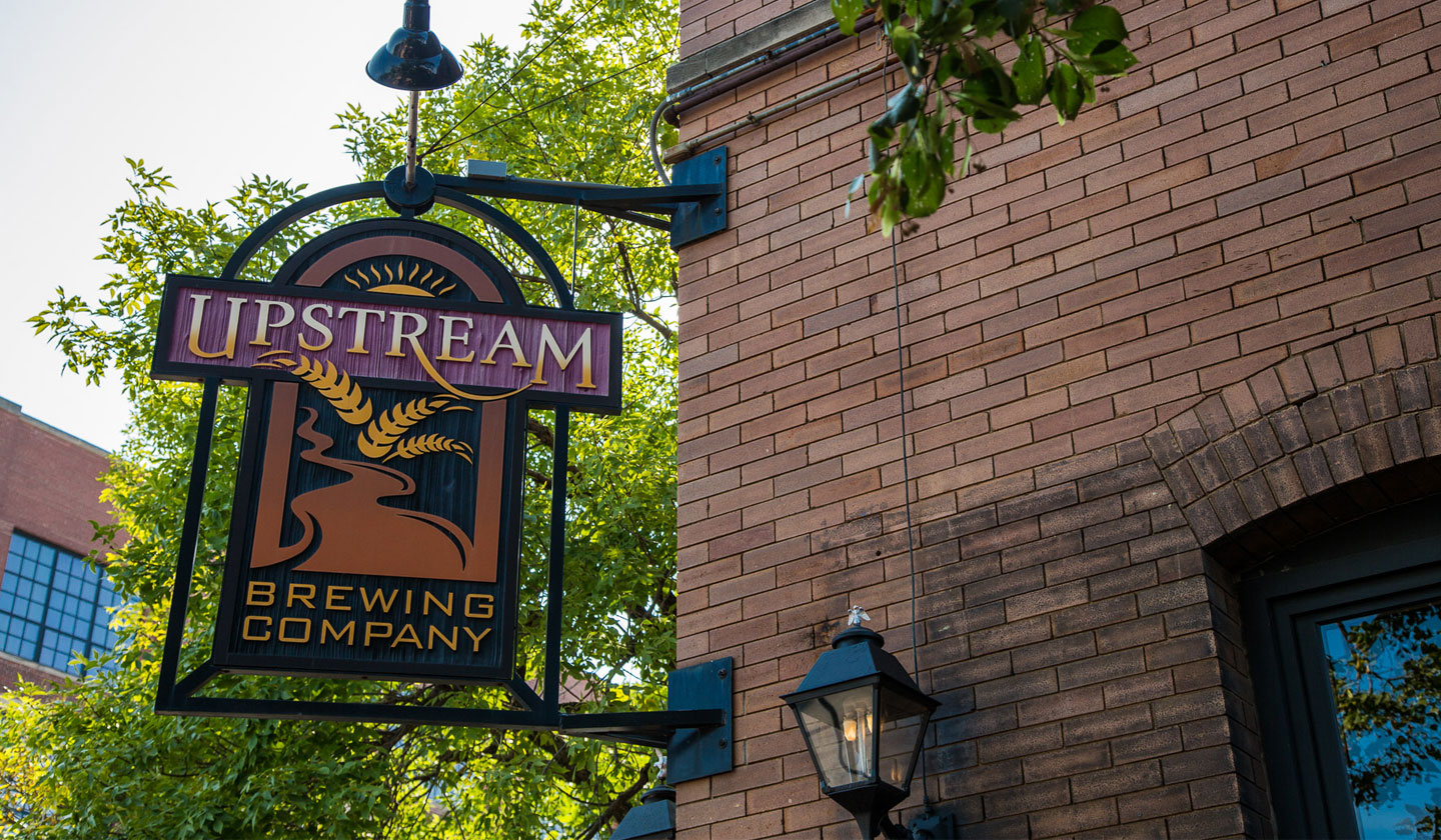 Upstream Brewing Downtown Sign