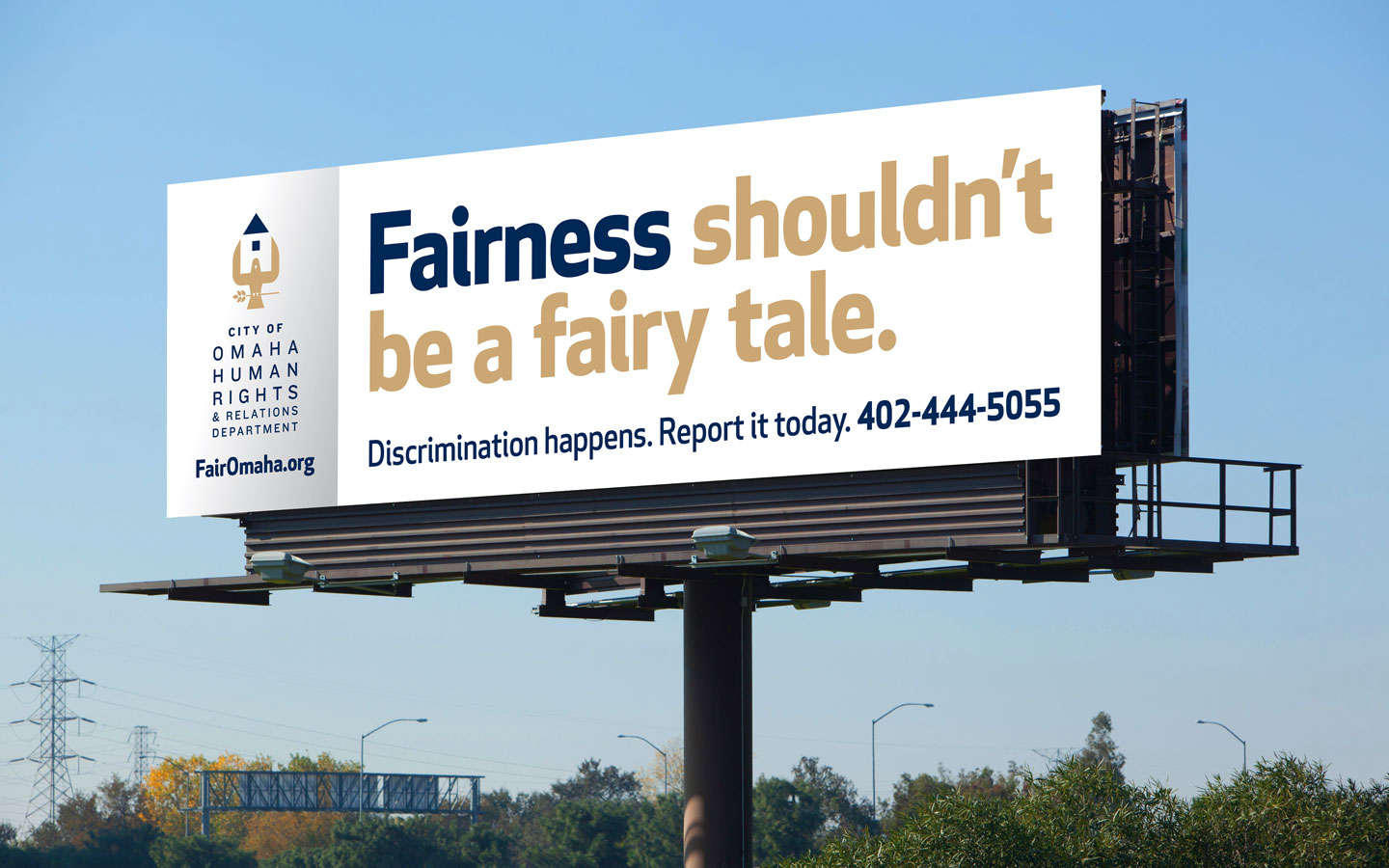 City of Omaha Human Rights and Relations Dept. Billboard
