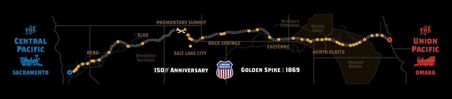 Union Pacific Golden Spike website map