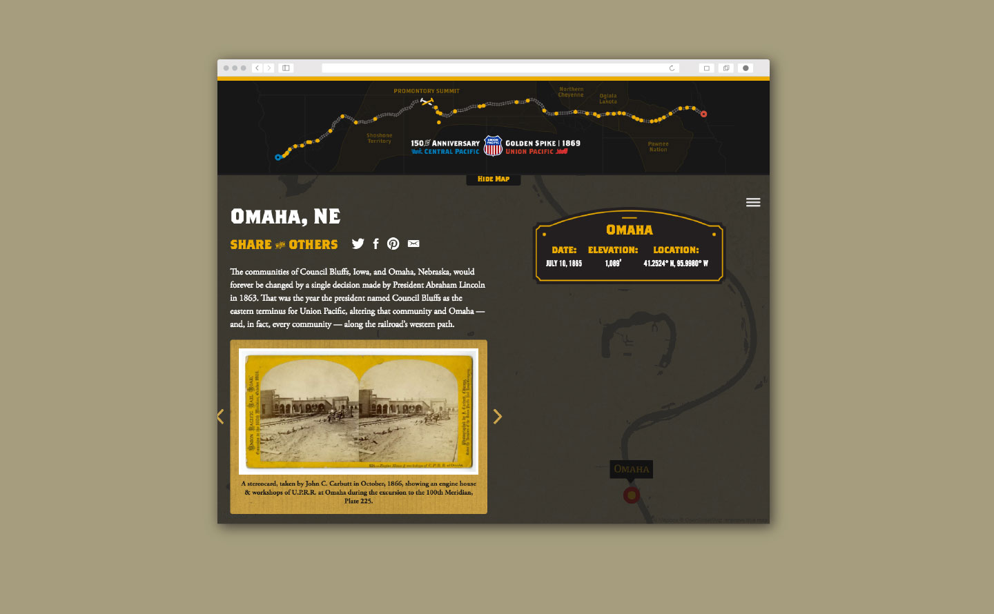 Union Pacific Golden Spike Website Omaha