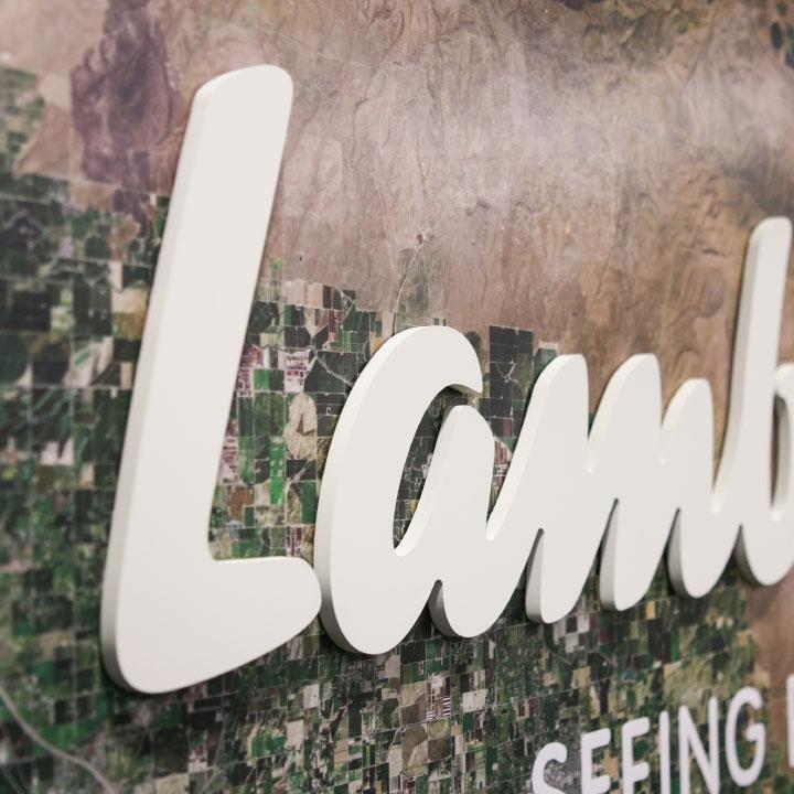 Lamb Weston Conference Room Map Wall Detail