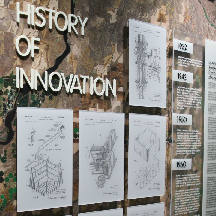 Lamb Weston Conference Room History of Innovation