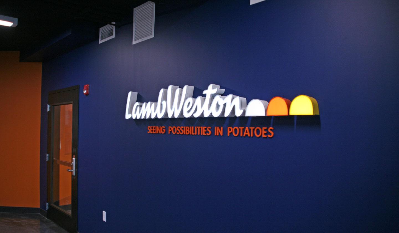Lamb Weston Logo Wall