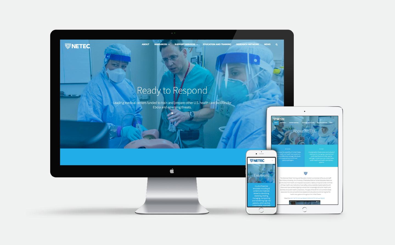 NETEC Desktop Website, iPad and Mobile
