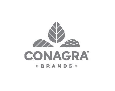 Conagra Brands Logo in greyscale