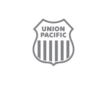 Union Pacific logo in greyscale